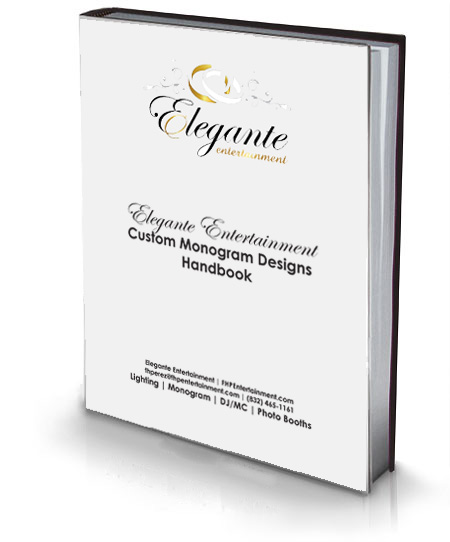 Elegante Entertainment Custom Gobo Monogram Design Handbook